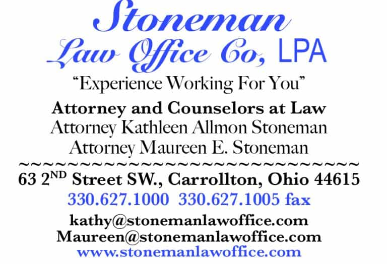 Stoneman Law Office Ad